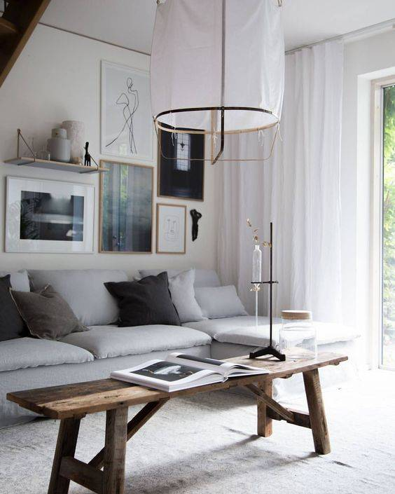 The elmwood tabel is still a must have when it comes to a (bright) Scandinavian Ethnic or Bohemian styling - seen at Elle Decoration