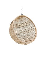 HK Living Rattan hanging bowl chair natural bohemian - 104x63cm - HK Living