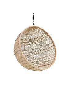 HK Living Rattan hanging bowl chair natural bohemian - 104x68cm - HK Living