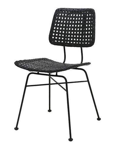 Rattan Desk Chair Black Hk Living