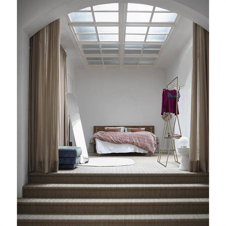 HK Living Bedspread shabby velvet - nude - 230x250cm - HK Living