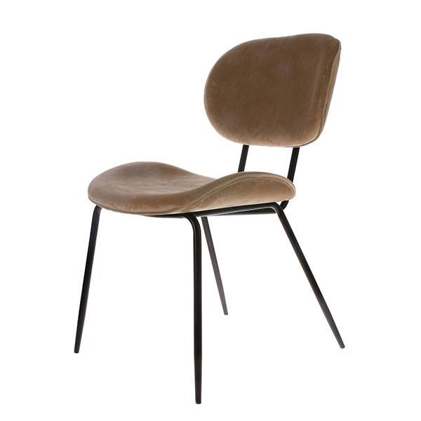HK Living Dining chair velvet - sand  - HK Living