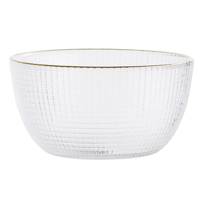 Bloomingville Bowl - glass / gold - Ø11xH6 cm - Bloomingville