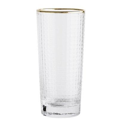Bloomingville Vase - verre / or - Ø6,5xH13,5 cm - Bloomingville