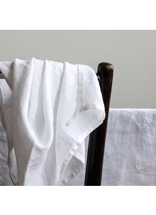 Tell me more Kitchen towel 100% stonewashed linen - 50cm x 70cm  - White - Tell Me More