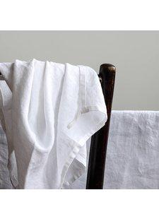 Tell me more Toalla de cocina 100% lino lavado a la piedra - 50cm x 70cm - Blanco - Tell Me More