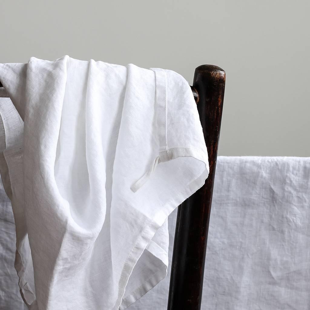 Tell me more Serviette de cuisine 100% lin lavé  - 50cm x 70cm - Blanc - Tell Me More