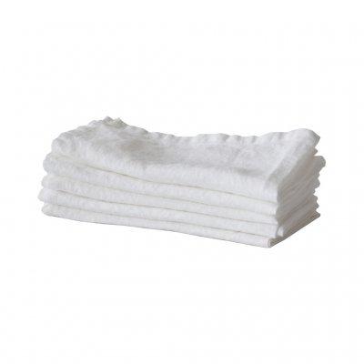 Tell me more Kitchen towel 100% stonewashed linen - 50cm x 70cm  - White - Tell Me More