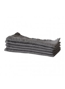 Tell me more Kitchen towel 100% stonewashed linen - 50cm x 70cm  - Dark Grey - Tell Me More