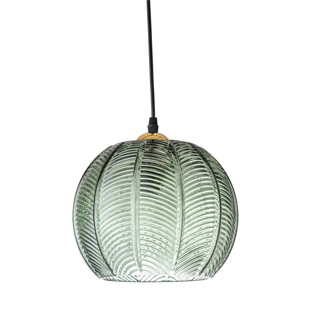 Bloomingville Glass pendant Lamp - green - Ø23xH18 - Bloomingville
