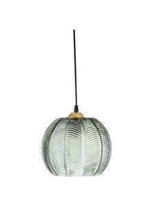 Bloomingville Lámpara de suspensión de vidrio - verde - Ø23xH18 - Bloomingville