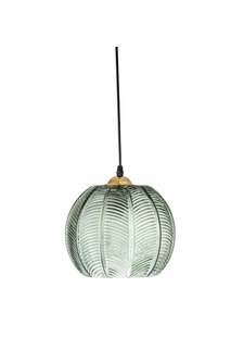 Bloomingville Lampe Suspension en verre - vert - Ø23xH18 - Bloomingville
