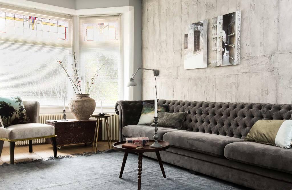 HK Living Linen Rug with anti slip - natural - 155x215cm - HK Living