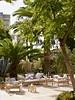 TineKHome Bamboo lounge sofa with white mattress - Outdoor - 177x76xh70cm - Tinekhome