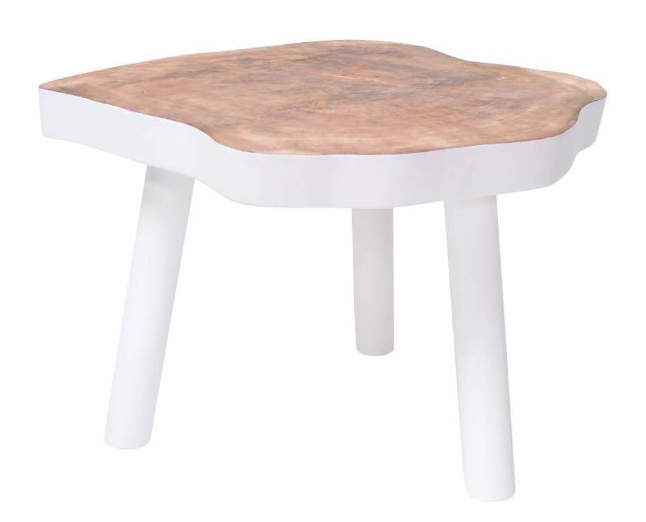 HK Living Table Basse Arbre - 65cm - bois blanc - HK Living