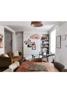 Aujourd'hui, l'inspiration nous vient de l'appartement parisien de Elise Simian Karsenti vu Elle.fr.