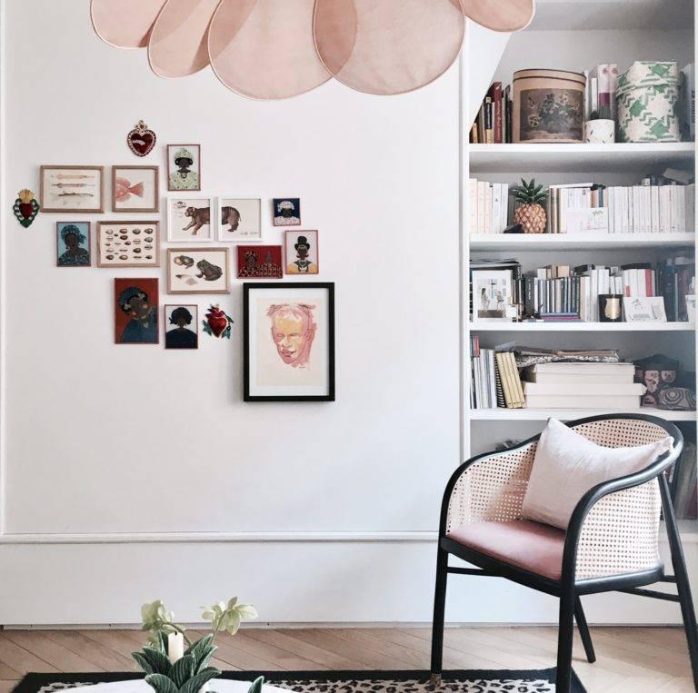 Aujourd'hui, l'inspiration nous vient de l'appartement parisien de Elise Simian Karsenti vu Elle.fr