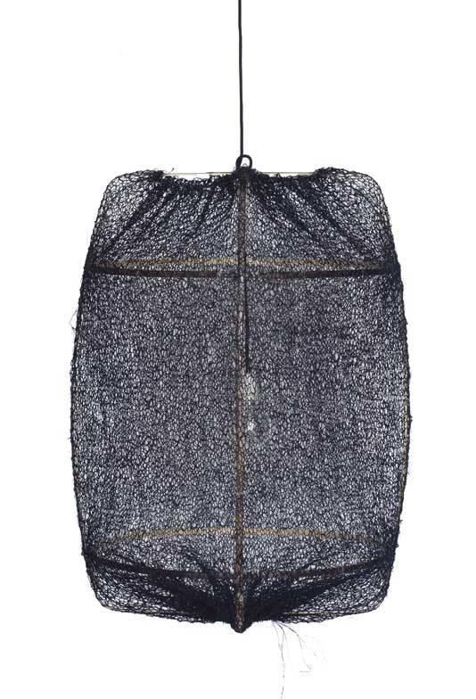 Ay Illuminate Z1 Suspension en bambou avec couverture en Sisal - Ø67x100cm - noire - Ay Illuminate