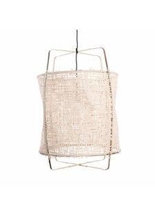 Ay Illuminate Z11 Black Pendant lamp -  bamboo and natural paper - Ø48.5 H72.5cm - Ay illuminate