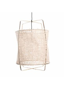 Ay Illuminate Z11 Black Pendant lamp -  bamboo and paper - Ø48.5 H72.5cm - Ay illuminate