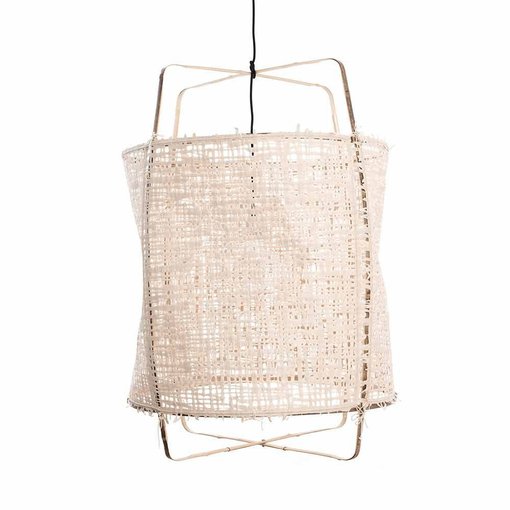 Ay Illuminate Z11 Black Pendant lamp -  bamboo and natural paper - Ø48.5 H72.5cm - Ay illuminate