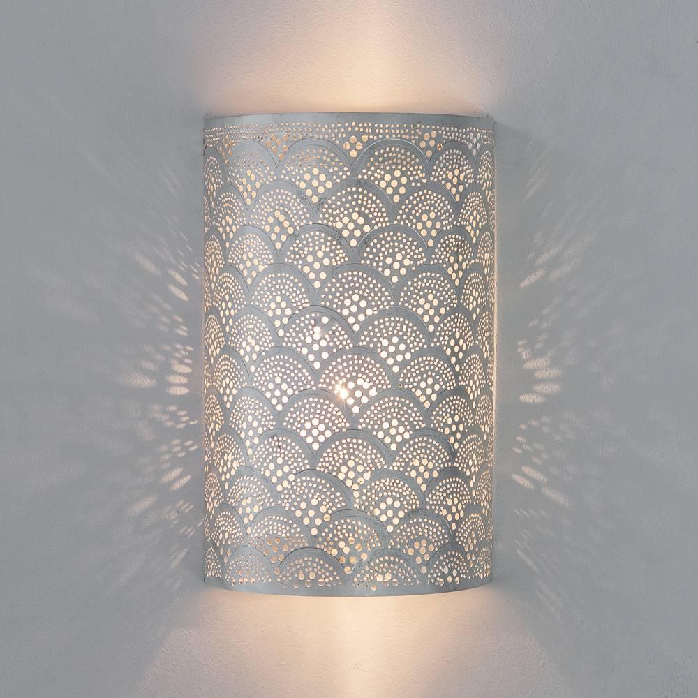 Zenza Lampe murale Cylindre FAN - Laiton argenté -  17,5x9,5x30cm - Zenza Home