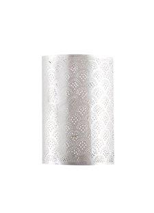 Zenza Lámpara de pared cilondro - Latón plateado -  17,5xh30cm - Zenza Home