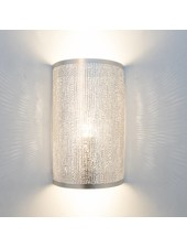 Zenza Wall Lamp Cylinder Filisky Silver -  17,5xh30cm - Zenza Home