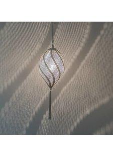 Zenza Lámpara de suspensión Twist Filigros - latón plateado - Zenza