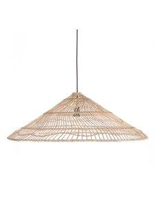 HK Living Lampe Suspension en osier Triangle -  Ø80xh26cm - HK Living
