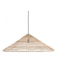 HK Living Wicker Pendant lamp triangle -  Ø80xh26cm - HK Living