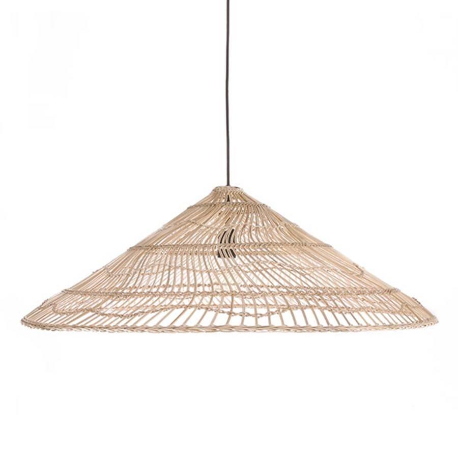 Lampe Suspension en osier Triangle - Ø80xh26cm - HK Living - Petite ...