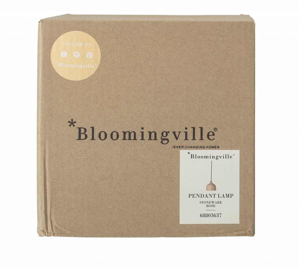 Bloomingville Pendant Lamp, Rose, Stoneware - Ø18xH15,5 - Rose - Bloomingville