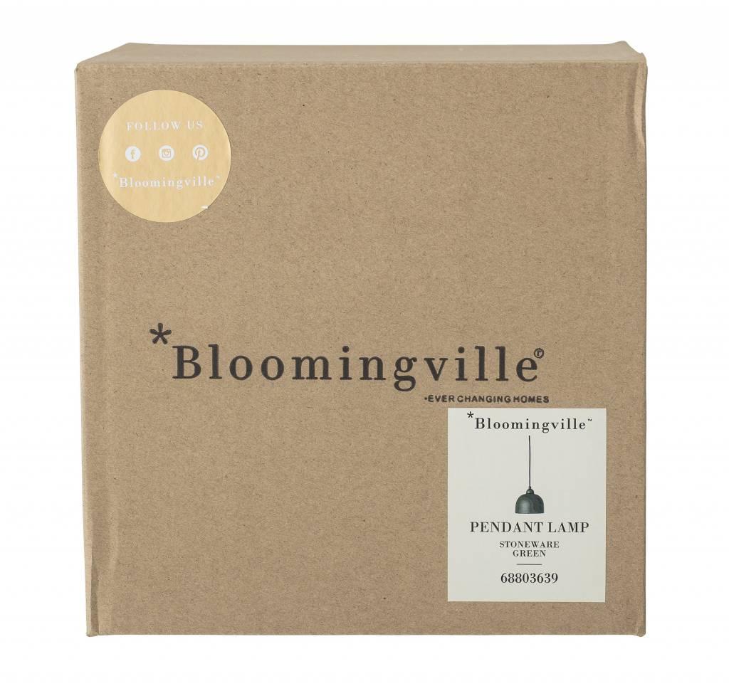 Bloomingville Lampe Suspension en grès - Ø18xH15,5 - vert - Bloomingville