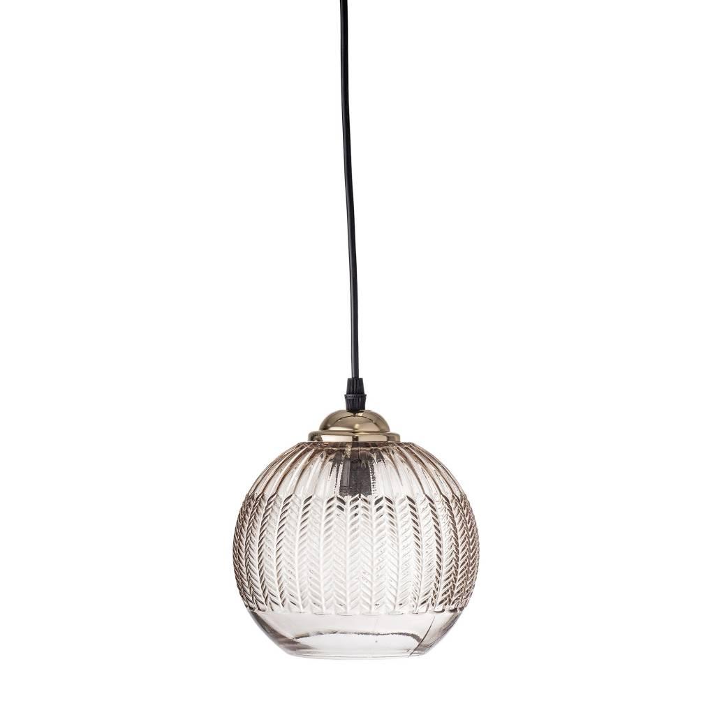 Bloomingville Glass pendant Lamp - Brown - Ø18xH15 - Bloomingville