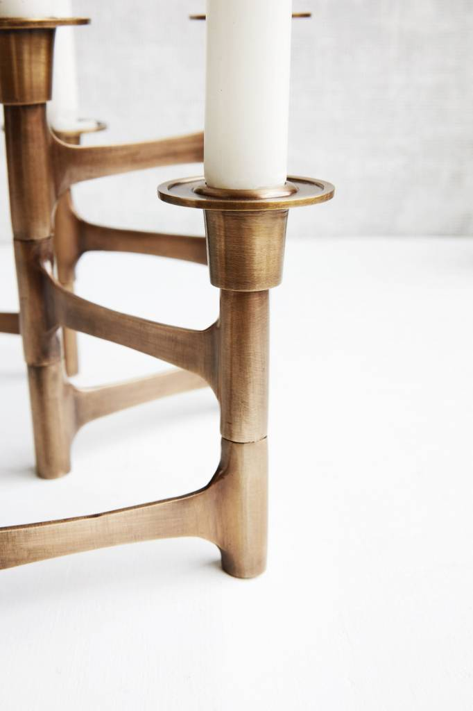 House Doctor Candle stand, Move, brass finish -  50xh17cm - House Doctor