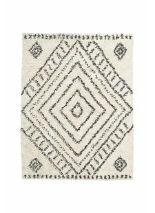 House Doctor Scandinavian-Ethnic rug 'Nubia' - white & black - 210x160 - House Doctor