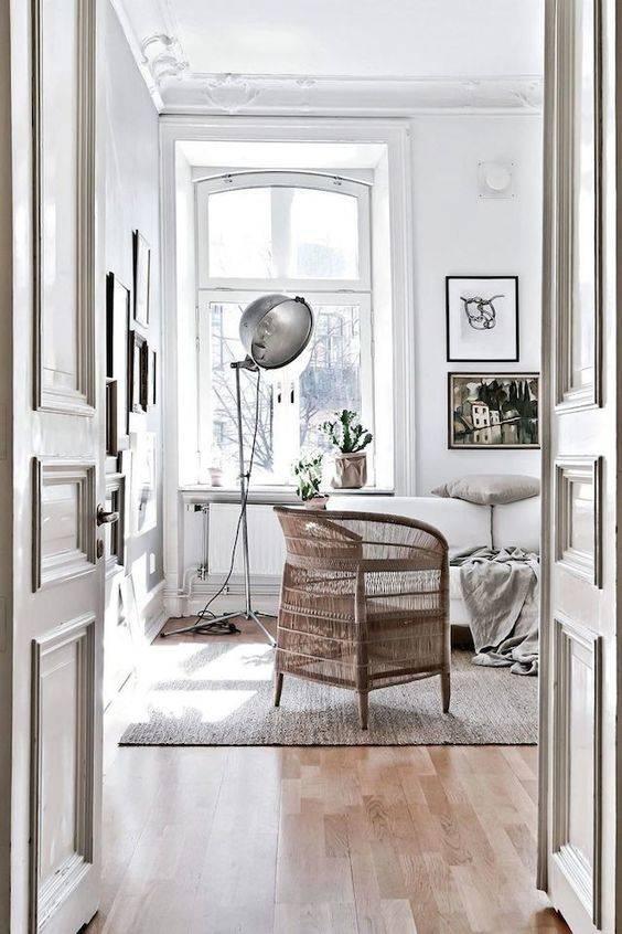 TineKHome Rattan chair Boho-Chic - naturel - 70x60xH44/82cm - TinekHome