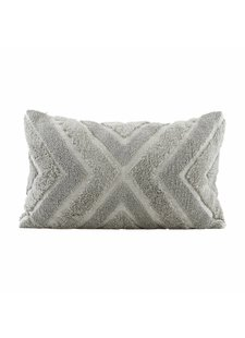 House Doctor Housse de coussin India - gris - 60x40cm - House Doctor