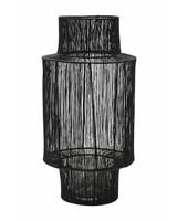 House Doctor Lanterne en rotin - noir - Ø22xH45cm - House Doctor