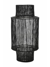 House Doctor rattan lantern - black  - Ø22xH45cm - House Doctor