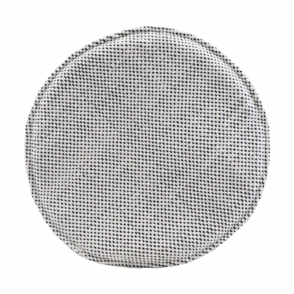 House Doctor Seat pad round - black & white - 35cm - House Doctor