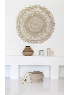 the dharma door  Mandala Wall Hanging jute - Natural - Ø65cm - The dharma door
