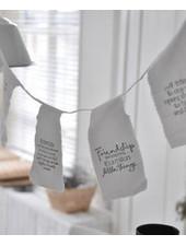 Afrodutch Paperstone Guirlande en coton avec citation 4m - Amitiés