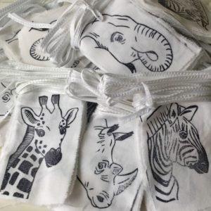 Afrodutch Paperstone Guirlande en coton 4m - Animaux sauvages africains - Afrodutch Paperstone