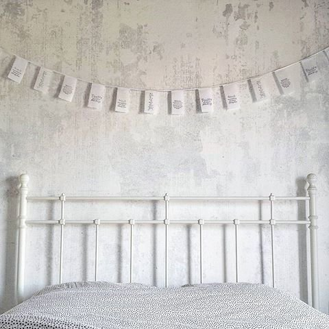Afrodutch Paperstone Cottonfield Bunting w/ qoutes - Wisdom - 4m - Afrodutch