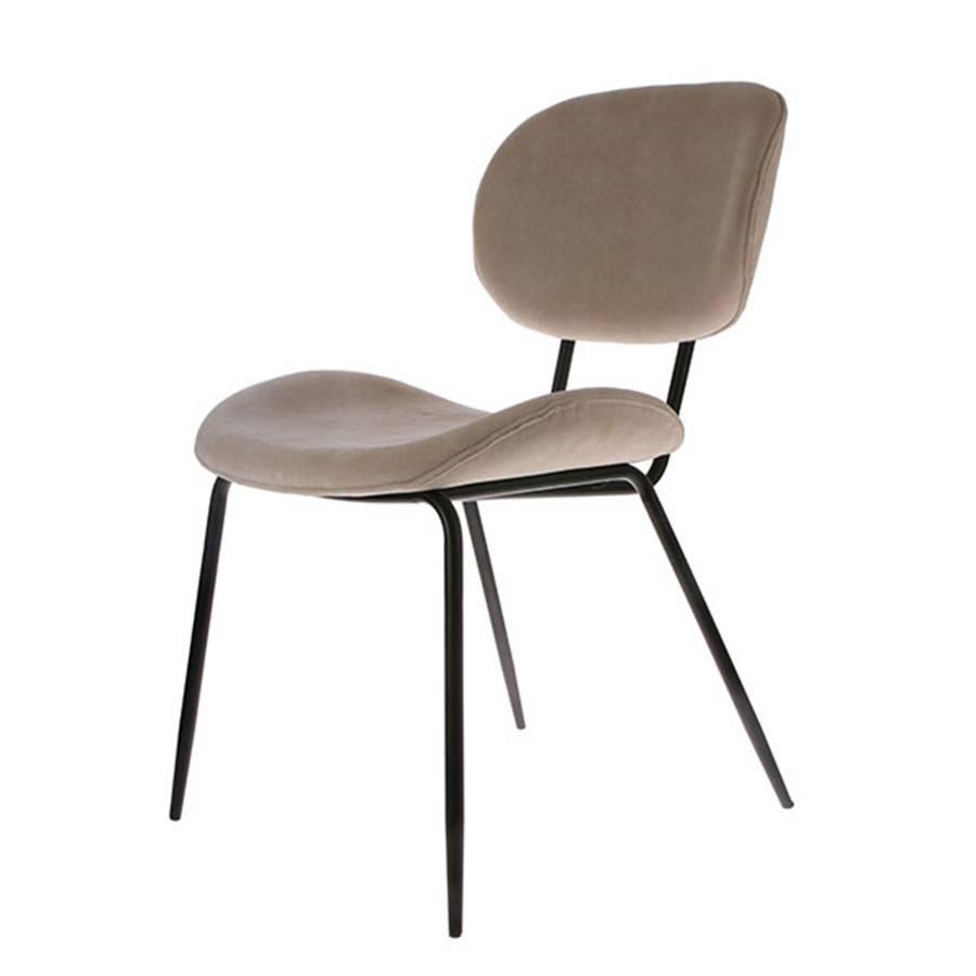 HK Living  dining chair rib velours - crème - HK Living