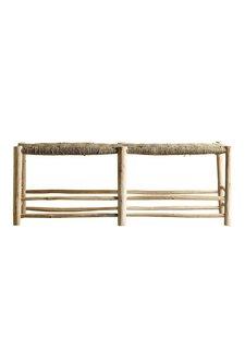 TineKHome Banco marroquí de madera - natural - 138xh48cm - Tinekhome