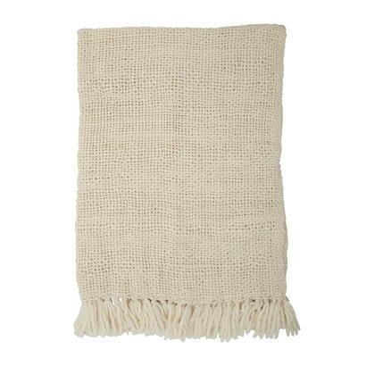 Bloomingville Plaid en  laine - Blanc - 170x130cm - Bloomingville
