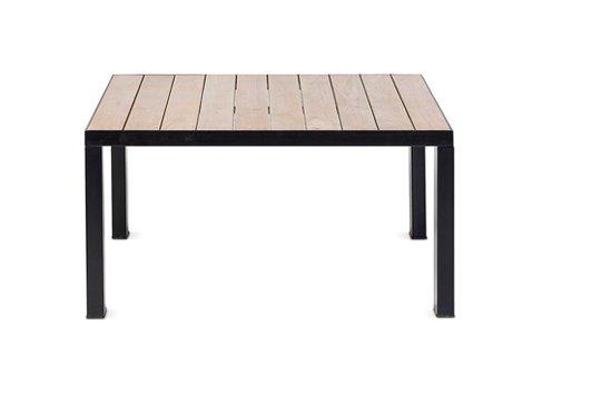 Dareels Table basse en teck et Fer - Exterieur - 80x80xh35cm - Dareels
